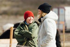 Im Gespräch. Susanne Jelinski und Katharina Brandel (miia)