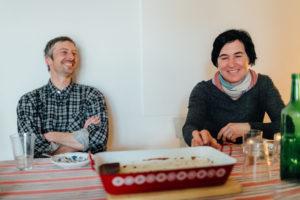 Gunnar und Usi, Cheescake und Traubensaft